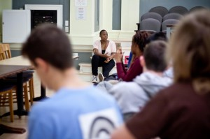 Sharon Onga '13 led a Campus Climate Teach-In last week in Rockefeller Hall to address recent incidents like the VSA MEChA application, racist graffiti and the baseball team's alleged sexist hazing practices.Photo: Katie de Heras/The Miscellany News