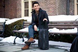 Matt Ortile '14, above, worked last semester at a Manhattan magazine. Given the extra strain despite the advantages. he urges students to ensure they are truly committed if they choose to work off-campus. By: Katie de Heras