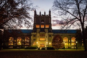 Vassar's historic Thompson Memorial Library houses over 1,000,000 volumes; the collection keeps growing through the efforts of a team of dedicated library workers in the Acquisitions Department. Photo By: Vassar College