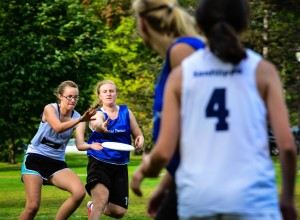 """Ultimate players from eight different colleges came to Vassar this past weekend for the annual """"Huck for Red October"""" tournament. This year was the sixth year that Vassar held this event. Photo By: Spencer Davis"""