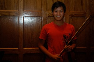 Kevin Lee '14 has served as concertmaster of the College's Orchestra for the past three years, and will retain the role during his senior year. He is a biology major and treasurer for Senior Class Council. Photo By: Nathan Tauger