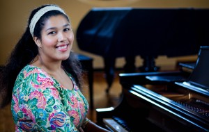 Soprano Regina Krawiec '15 began singing at age ten in her church choir. She devotes over 16 hours a weekto vocal training, and has made great strides in classical singing since her freshman year. Photo By: Sam Pianello