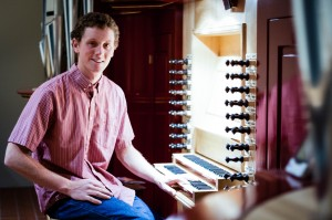Patrick Walker '16 began his musical in his senior year of high school. Now, only a few years later, he is working at the conductor for Vassar's student-run Baroque orchestra and choir, Camerata. Photo By: Sam Pianello