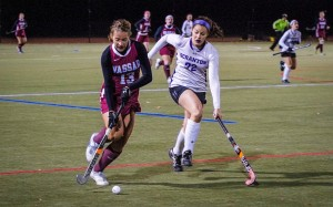 Junior Lauren Wiebe has an excellent performance vs the University of Scranton on Tuesday, Oct 29. As the team moves towards postseason, the forward leads the team in goals with a total of twelve. Photo By: Jacob Gorski