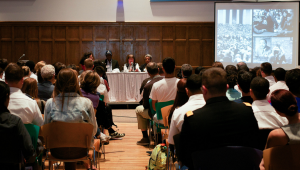 In honor of the 50th anniversary of the historic March on Washington, Vassar College hosted a photo exhibition and a panel comprised of Poughkeepsie locals who participated in the March decades ago.  Photo credit: Cassady Bergevin.