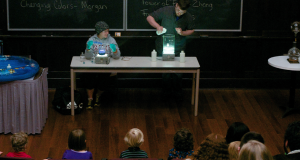 On October 23, Vassar College's Chemistry Department hosted a magic show for children from the Whimpfeimer Nursery School and the Infant and Toddler Center to celebrate Chemistry Week. Photo By: Cassady Bergevin