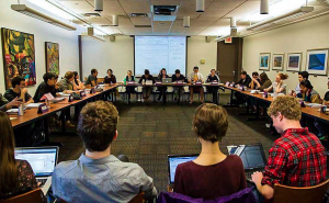 The VSA recently encountered a controversy involving fund allocation for the group Act Out! In a compromise, they voted to give money through the Discretionary Fund to a single member of the group. Courtesy of Vassar College.