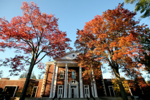 The All Campus Dining Center is one of a number of buildings that have been restored to their original look thanks to paint analysis ordered by Buildings and Grounds. courtesy of: Vassar College.