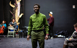 Cheikh Athj has joined numerous student organizations, such as Wordsmiths, Hip Hop 101, and Future Waitstaff of America, to fulfill his artistic passions.  Photo by: Sam Pianello