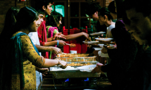 Various student organizations worked together to throw a joint Eid-Diwali celebration. The event sought to celebrate the holidays, as well as inform students about their significance. Photo by: