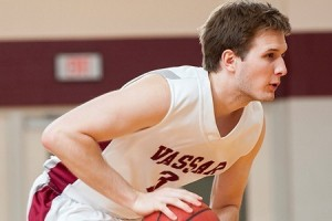 Senior Andrew Adkins is one of the co-captains of the men's basketball team. The Brewers' currently have won four games so far this year, its first four-game winning streak since the 2007-08 season. Photo By: Vassar College Athletics