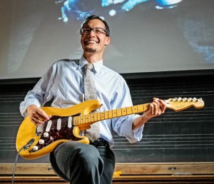 Justin Patch, a music professor with a background in anthropology, employs innovative techniques in his classes. He is particularly interested in certain pedagogical aspects of the way people interpret sound. Photo By: Vassar College