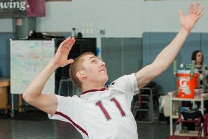 Men's volleyball is one of several spring sports hoping to build on the success of the 2012 season, in which they went 10-13 in total matches. Over winter break the team prepared for upcoming matches. Photo By: Vassar College Athletics