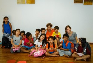 Kelly Schuster '15 and her mother traveled to India over winter break to teach dance and drama in Bombay, India. The children in their classes ranged from kindergarten to 6th grade. Photo By: Kelly Schuste