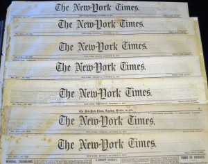 One hundred print copies of The New York Times can be found in the College Center and Retreat. Additionally, online access is available for students seven days a week through one-hour passes. Photo By: lasisblog