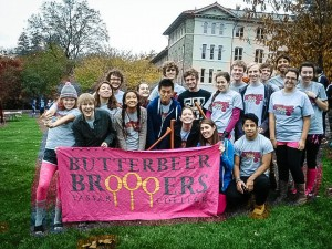 The Vassar College Quidditch team is one of the few non-varsity sports on campus that regularly attends competitions and tournaments. The team practices only three times a week on Joss Beach. Photo By: Vassar College Broooers