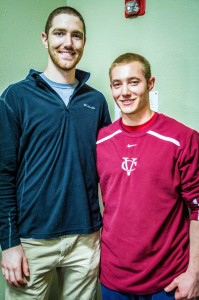 Sophomores Brooks English and Nick Johnson of the men's baseball team recently signed with the Worcestor Bravehearts and Brockton Rox respectively. The team's season begins on March 11, 2014. Photo By: Alec Feretti
