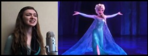 """Melinda Reese '16 created a Youtube sensation with her re-translated lyrics to """"Let It Go"""" from Disney's """"Frozen."""" The video was picked up by news sites such as Buzzfeed and the Huffington Post. Photo By: Malinda Reese"""