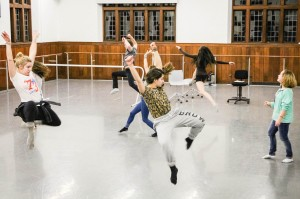 """Students Hannah Tobias and Belle Shea's play, """"2023"""", began as a 15-minute classroom assignment but developed into a full-scale musical, complete with storyline, dialogue, music and choreography. Photo By: Pavel Shchyhelski"""