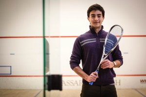 Ricardo Espinosa of the men's squash team has had a unique experience at Vassar as an international student and athlete. In his senior year he has taken on a leadership role for the team. Photo By: Jacob Gorski