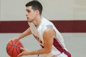 Senior co-captain Evan Carberry is a member of the Vassar men's basketball team. The team has earned a Liberty League playoff spot and will be vying for the championship later in the season. Photo By: Katie de Heras
