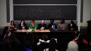 An assembly of speakers tackled the rarely broached subjects of race and minority representation in fandom media and nerd culture in a panel during the annual No Such Convention. Photo By: Katie de Heras