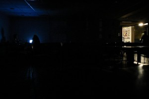Students gathered in the Retreat Saturday night when the college lost power to half of campus, including Main Building. The cause of the blackout was a degraded piece in the College's electrical system. Photo By: Pavel Shchyhelski