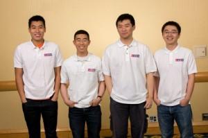 William Zhu '15, far left, poses alongside his bridge World Youth Teams Championship teammates, Edmund Wu, Erli Zhou and Jimmy Wang. Photo By: United States Bridge Foundation
