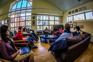 Students gathered in the ALANA Center to discuss the history of Native American Studies as well as the future and viability for the program now that there is a correlate in the American Studies Department. Photo By: Alec Feretti