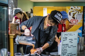 Recently many UpC student employees have quit their jobs due to the late hours and low wages. Given this decrease in workers, the smoothie and snack stop has had to cut back on their hours of operation. Photo By: Alec Feretti