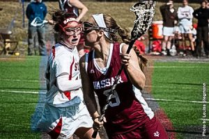 Women's lacrosse looks to win their last games in the season to move on to Liberty League finals. Isabelle Goldstein, pictured above,and her team currently hold a 9-4 record and League record of 4-3. Photo By: Vassar College Athletics