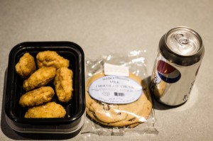 Campus Dining struggles to offer viable food options with meal swipe equivalency to students. As a result of that, meal swipe equivalency often includes few and unfulfilling options, like above. Photo By: Joshua Sherman