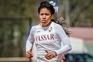 Junior Ariel Bridges was named Liberty League Performer of the Week. Both the men's and women's track teams at Vassar will be sending members to the ECAC championships coming up later in the semester. Photo By: Vassar College Athletics