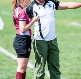 Tony Brown and Mark Griffiths (pitcured above) have been instrumental in developing the rugby programs at Vassar since their arrival. Both teams remain undefeated in the Tri-State Conference. Photo By: Vassar College Athletics
