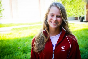Women's tennis freshman Kate Christensen has started her first semester off to a strong start. She has put herself on the map by recently winning the ITA Northeast Regionals at the end of September. Photo By: Jacob Gorski