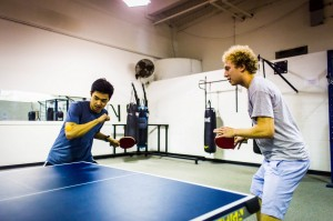 Intramural sports continue to be a popular option for students looking to stay active, yet not wanting to commit to a varsity sport. Table tennis is offered along with many other competitive sports. Photo By: Alec Ferretti