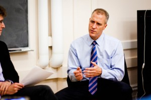 Former Editor-in-Chief Rosenkranz '14 interviewed Democratic candidate Sean Patrick Maloney during the previous election. He will face opponent Nan Hayworth again in the upcoming race. Photo By: Katie de Heras