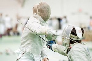 The College's fencing team hopes their strong recruiting over the summer and hard work in preseason will pay off in the upcoming season, which begins Nov. 1. Photo By:  Katie de Heras