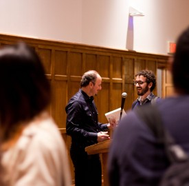 Pulitzer Prize-winning author Jeffrey Eugenides came to Vassar on Tuesday, Oct. 28 to deliver the annual William Gifford lecture. Charismatic Eugenides spoke extensively about the art of writing. Photo By: Sam Pianello
