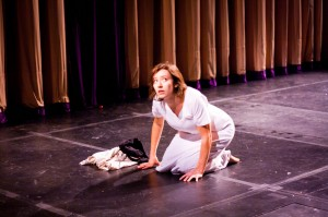 [m] is a collaborative, improvisational and devised production that explores questions of identity, gender and sanity. [m] will be shown on Oct. 30, Oct. 31 and Nov. 1 at 8 p.m. in the Martel Theater. Photo By: Sam Pianello
