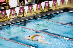 Vassar's swimming and diving teams seek to continue their winning ways after both men's and women's team beat Skidmore College this past Saturday at Kresge Pool in front of the home crowd. Photo By: Emily Lavieri-Scull
