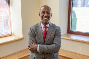 Michael Cato is in charge of newly received grants from the National Science Foundation to upgrade faculty research capabilities. The changes range from internet enhancements to joining new networks. Photo By: Vassar College Media Relations