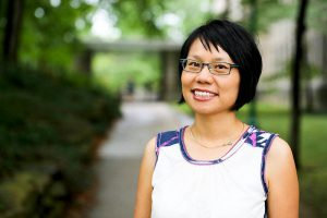 """On Nov. 13, Dr. Ellen Wu unpacked the model minority myth surrounding Asian Americans. She delves into the stereotype more extensively in her book, """"The Color of Success: Asian Americans and the Origins of the Model Minority."""" Photo By: Ellen Wu"""