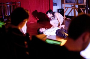 """Unbound will perform the play """"Rappaccini's Daughter"""" in the Kenyon club room on the weekend of Dec. 5. The play proved challenging for its cast due to its bold use of movement. Photo By: Sam Pianell"""