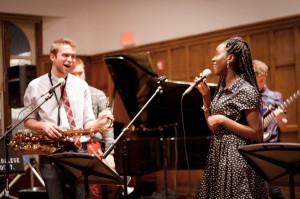 Artists in every medium–poets, singers, dancers and more–gather from Vassar and the greater Poughkeepsie area to perform throughout the spring semester, hosted by the Music Department. Photo By: Sam Pianello