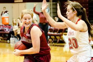 Junior guard Caitlin Drakeley has been dominant as of late, scoring in bunches as she helps push her team into playoff contention. She has also received Liberty League Honor Roll honors. Photo By: Vassar College Athletics