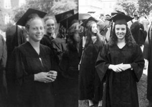 Pictured above are Bernice Garbade '79 and her daughter Rachel Garbade '15 at their fall convocations, 36 years apart. Growing up, Rachel attended Vassar reunions and events with her mother. Photo By: Rachel Garbade