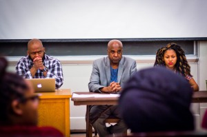 A panel of social activists representing students, faculty and alumnae/i hosted an open dialogue surrounding issues of diversity and inclusion between the Vassar community and the College, as well as within the movement itself. Photo By: Sam Pianello