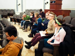 """VARC hosted a screening of environmentalist filmmaker Kip Anderson's """"Cowspiracy: The Sustainability Secret"""" to help spread awareness of the detriments animal agriculture pose to the planet. Photo By: Alessandra Seiter"""