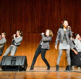 The Vassar Devils perform in Boston as part of the ICCA Semifinal competition. The group won first place and now moves on to the Broadway stage for the final competition in mid April.  Photo By: Cathy Zhou